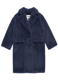 ESSENTIEL ANTWERP Remire Faux Fur Coat - China Ink