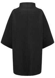 HARRIS WHARF Kimono Mantle Coat - Black