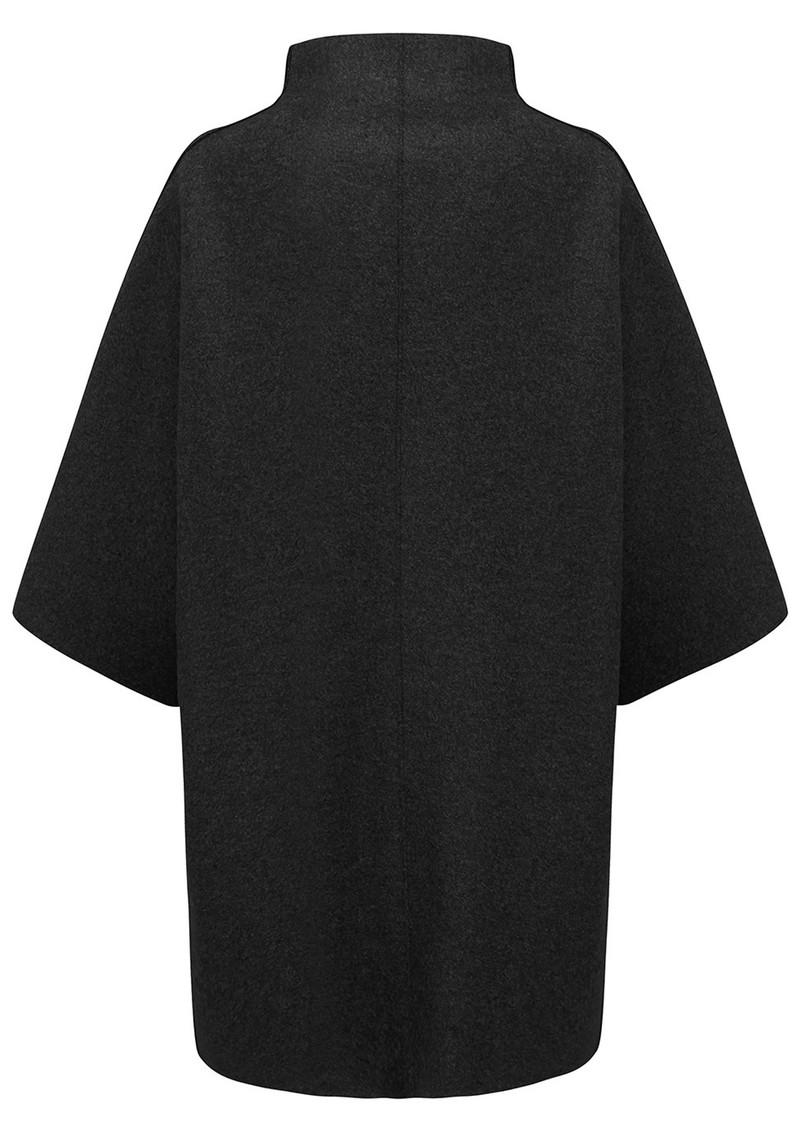 HARRIS WHARF Kimono Mantle Coat - Black main image
