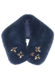 NOOKI Bug Faux Fur Collar - Ink