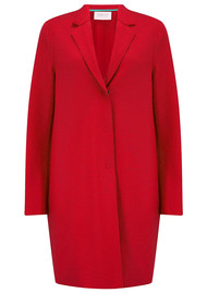 HARRIS WHARF Cocoon Coat - Red