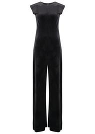 NORMA KAMALI Sleeveless Velvet Jumpsuit - Black