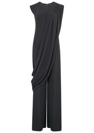 NORMA KAMALI Sleeveless Draped Jumpsuit - Black