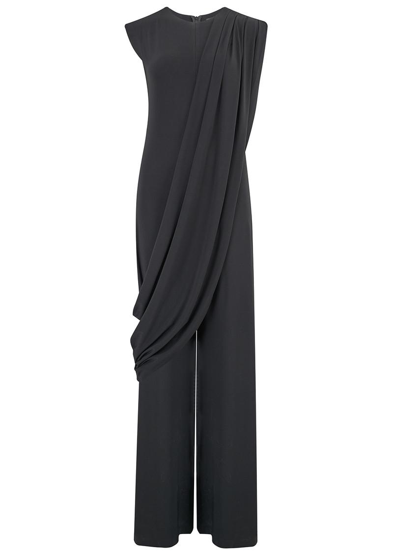 NORMA KAMALI Sleeveless Draped Jumpsuit - Black main image