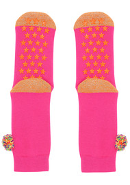 UNIVERSE OF US Slipper Socks - Pom Pom Pink