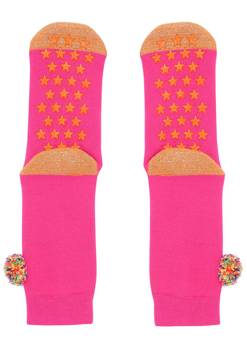 UNIVERSE OF US Slipper Socks - Pom Pom Pink main image