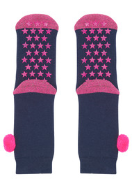 UNIVERSE OF US Slipper Socks - Pom Pom Navy