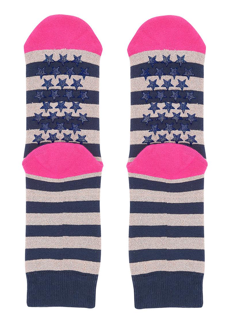 UNIVERSE OF US Slipper Socks - Stripe Rose main image
