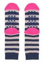 UNIVERSE OF US Slipper Socks - Stripe Rose