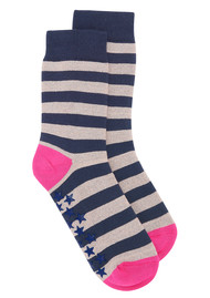 UNIVERSE OF US Slipper Socks - Stripe Rose