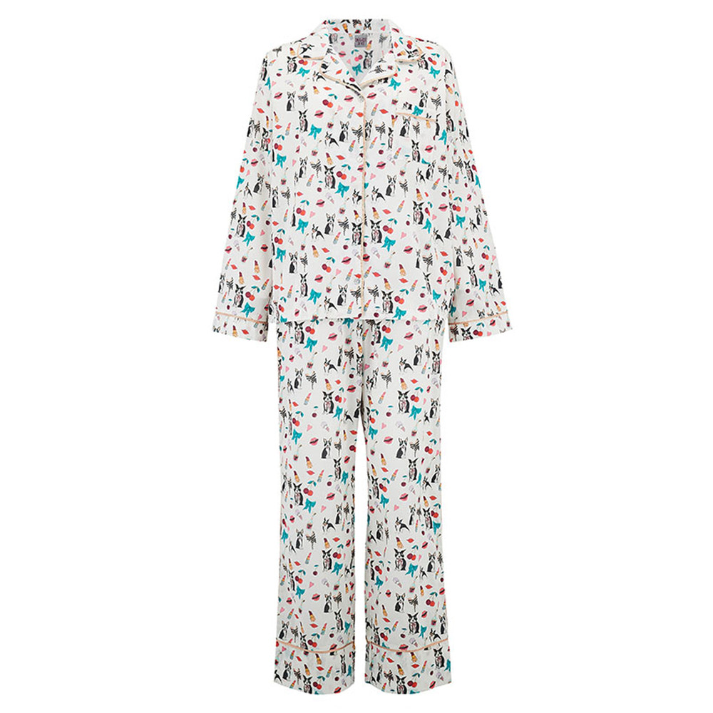 Dancing Dogs Pyjama Set - Multi