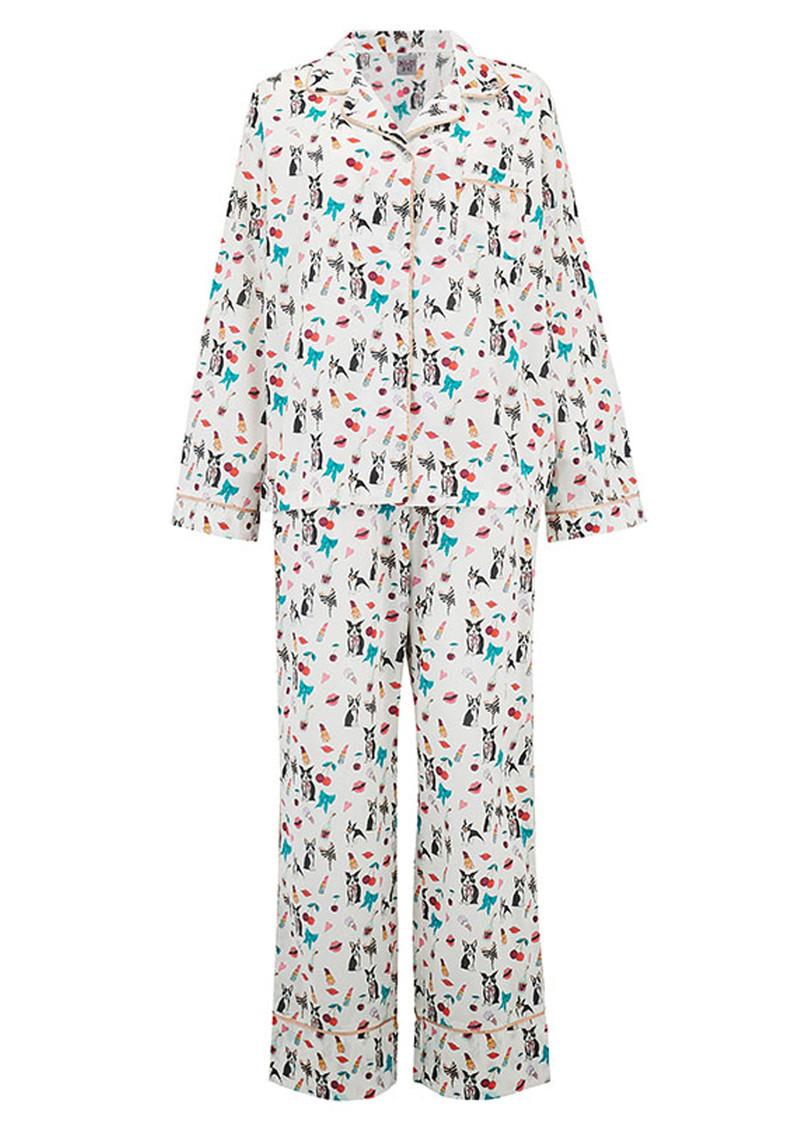 UNIVERSE OF US Dancing Dogs Pyjama Set - Multi main image