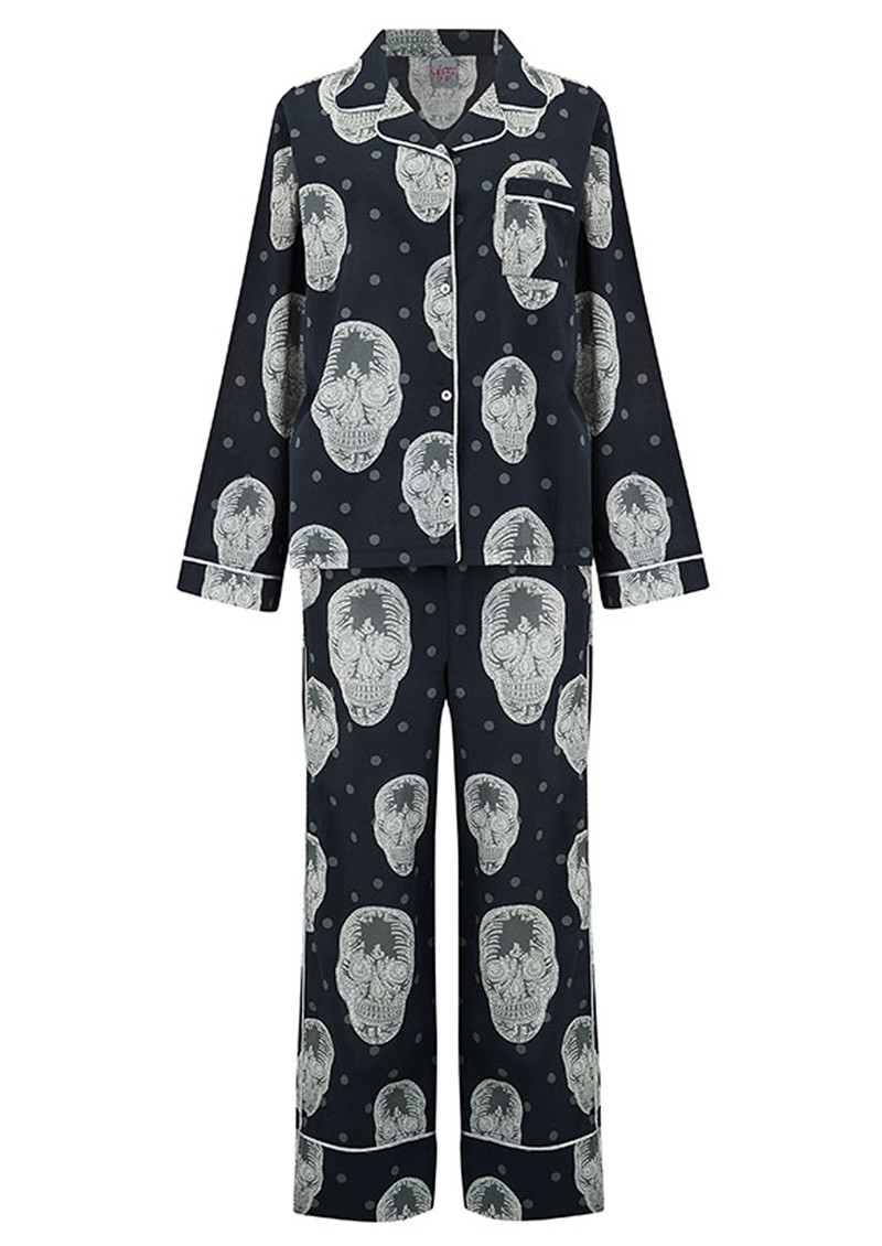 UNIVERSE OF US Skull Pyjama Set - Black main image