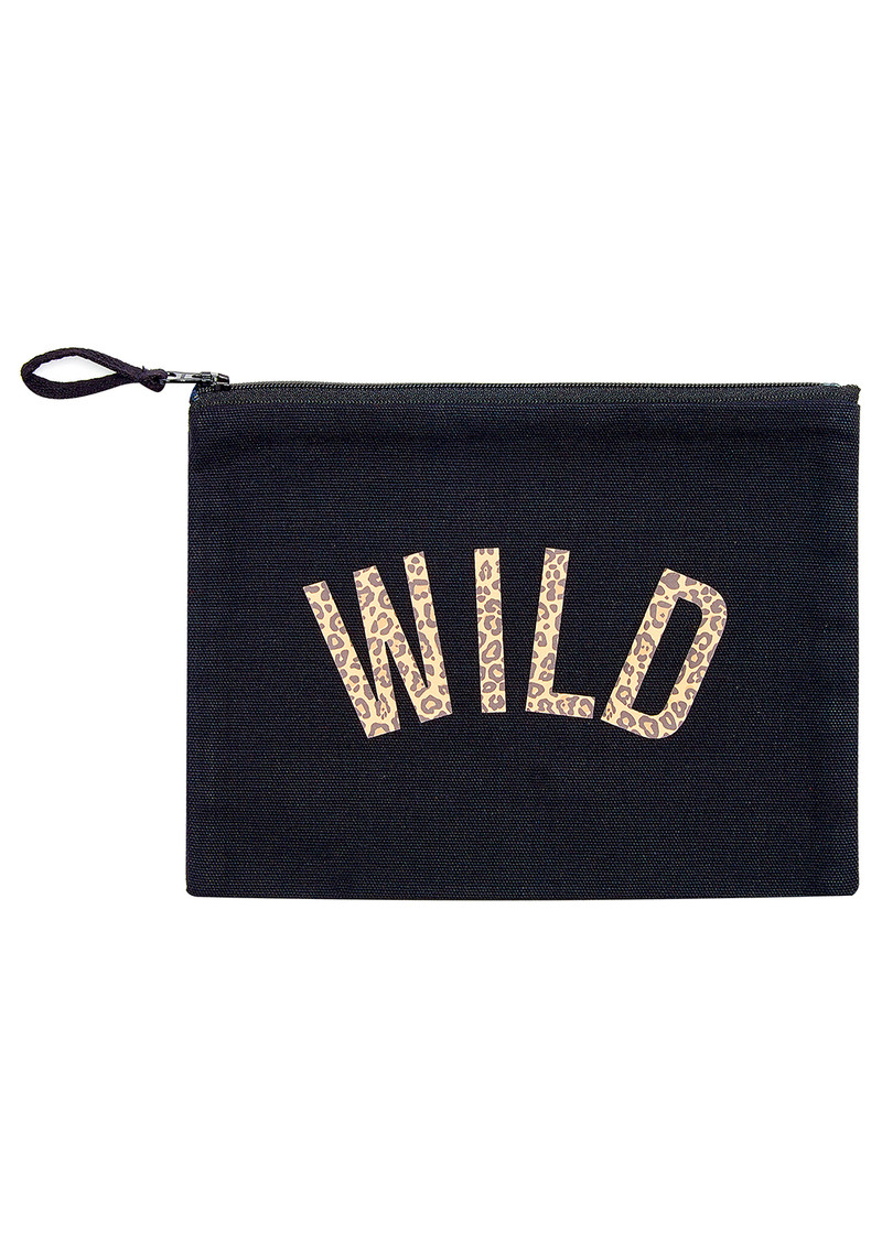 UNIVERSE OF US Wild Leopard Make Up Bag - Black main image