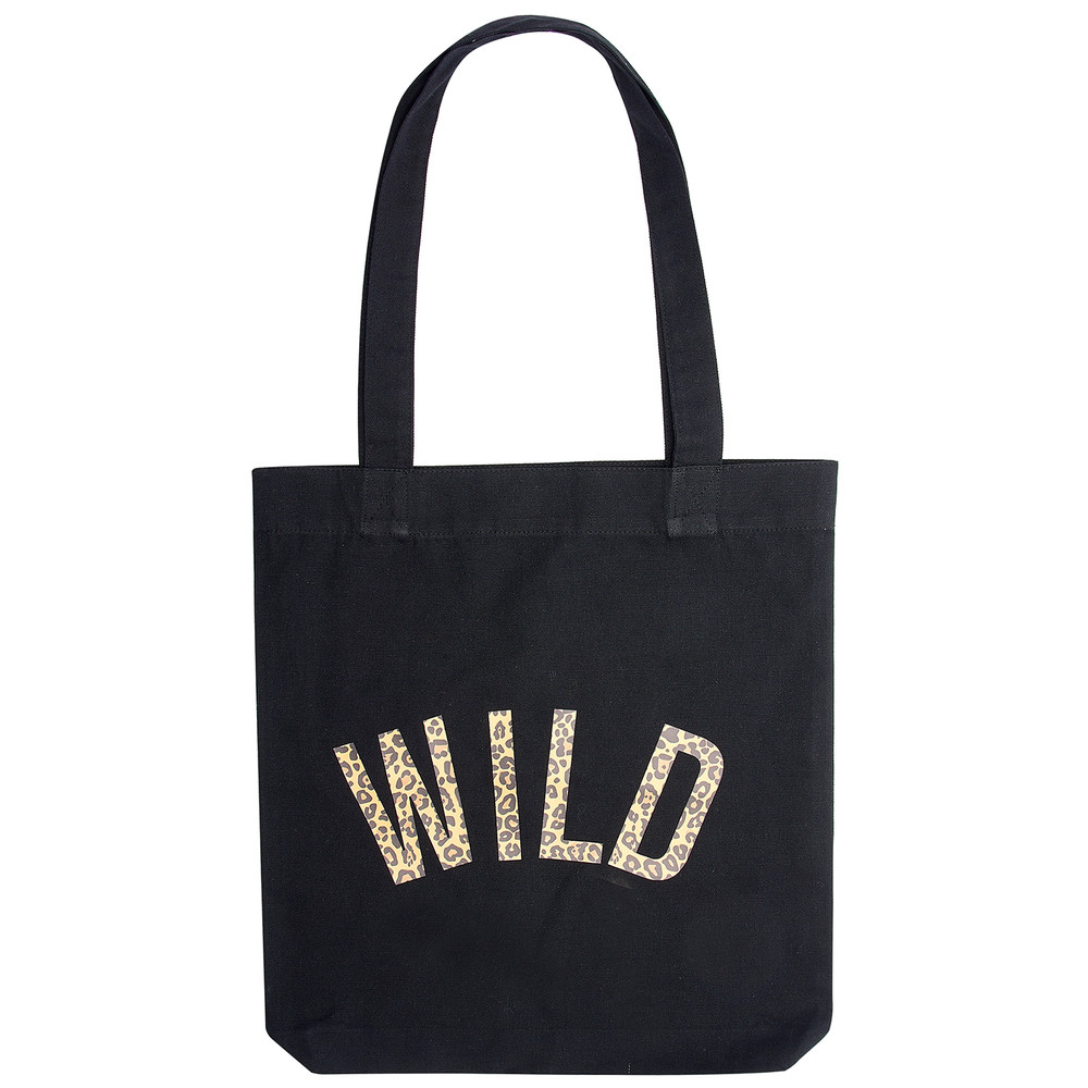 Wild Leopard Tote Bag - Black