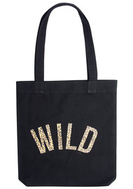 UNIVERSE OF US Wild Leopard Tote Bag - Black