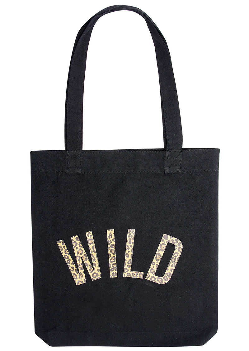 Wild Leopard Tote Bag - Black main image