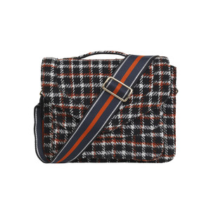 Mara Check Bag - Black