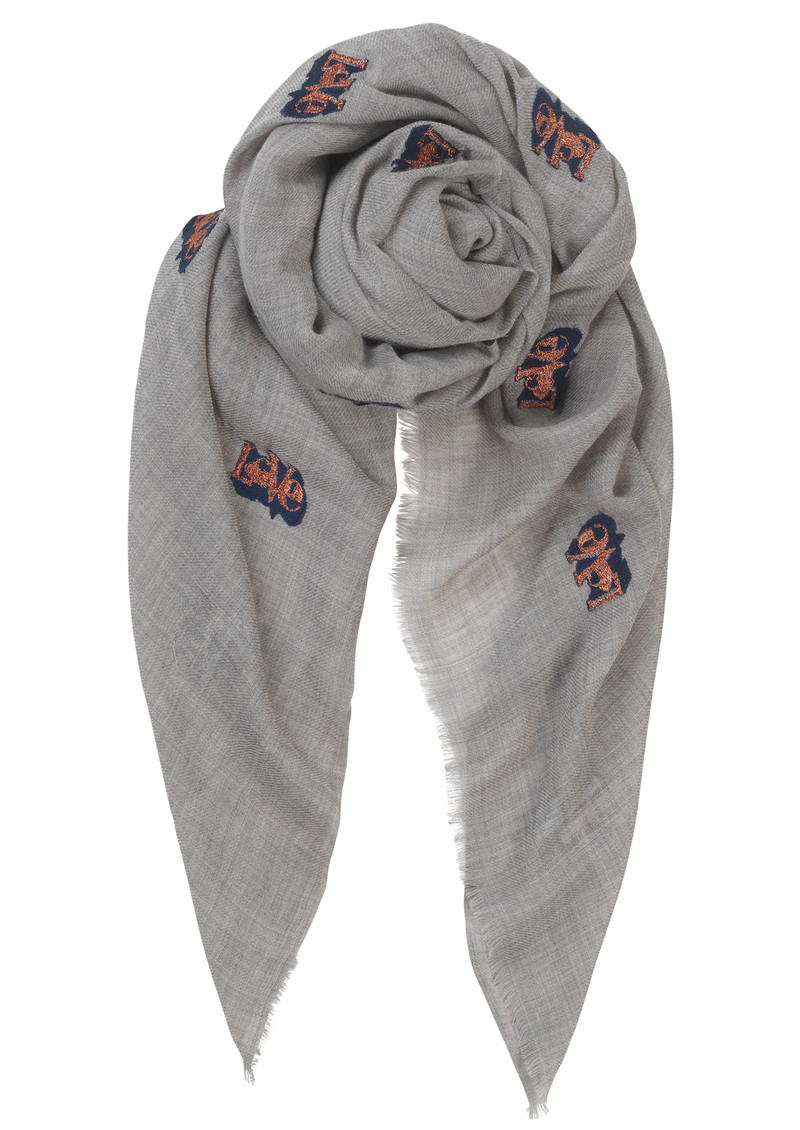 Becksondergaard Dreamy Love Wool Scarf - Light Grey Melange main image