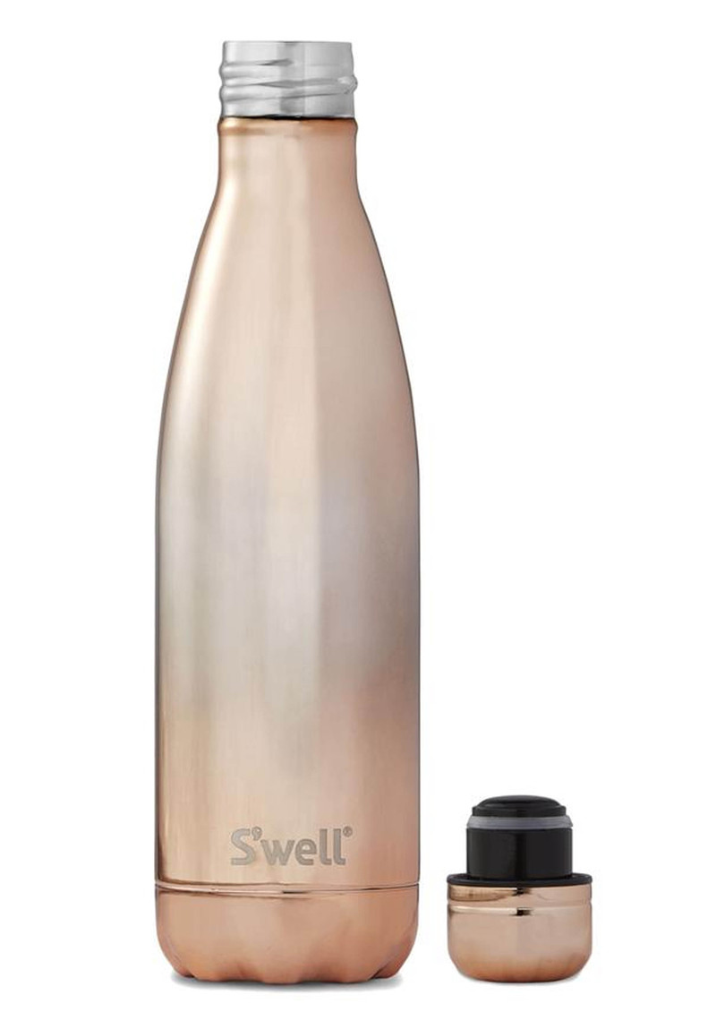 SWELL The Ombre 17oz Water Bottle - Rose Gold main image