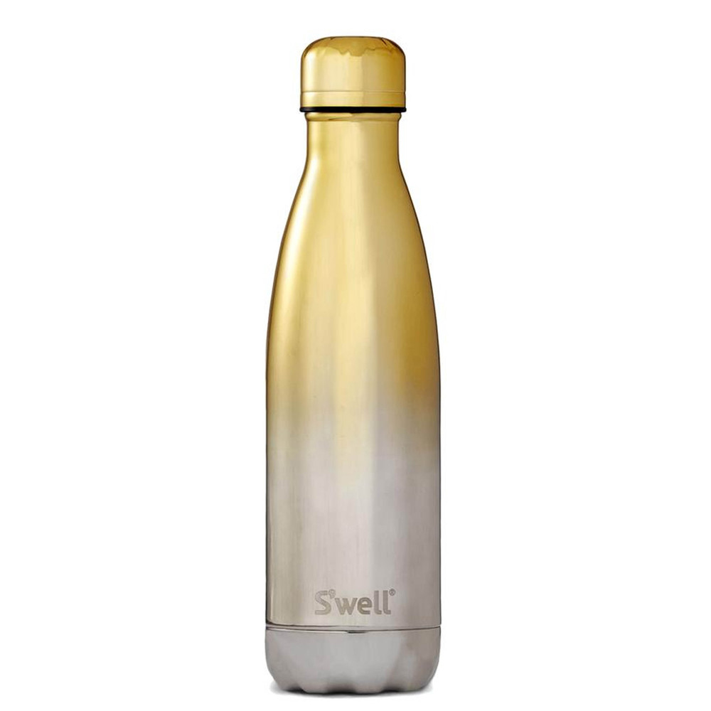 The Ombre 17oz Water Bottle - Yellow Gold