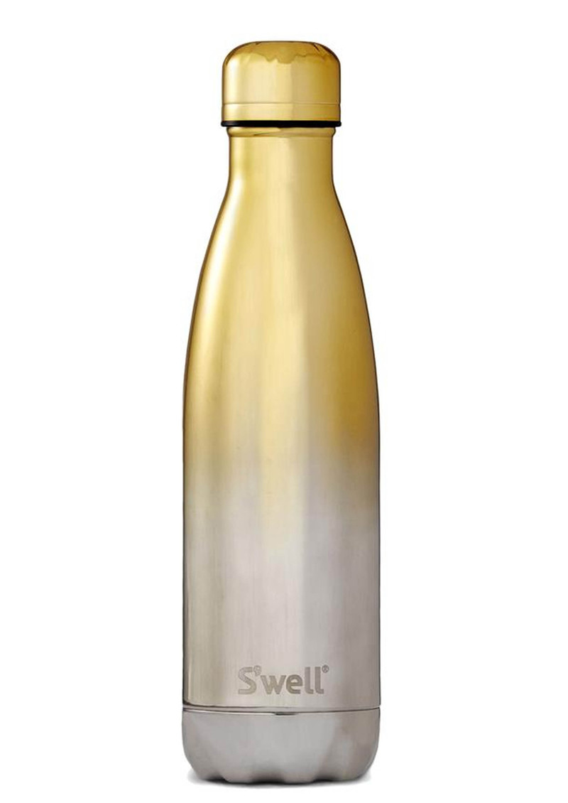 SWELL The Ombre 17oz Water Bottle - Yellow Gold main image