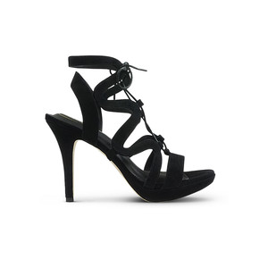 Chic Suede Heels - Black