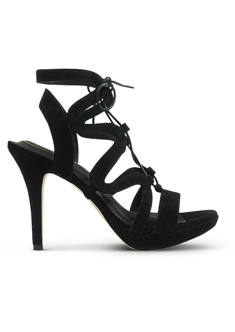 SARGOSSA Chic Suede Heels - Black main image