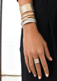 ANNA BECK Single Cross Cuff - Gold & Silver