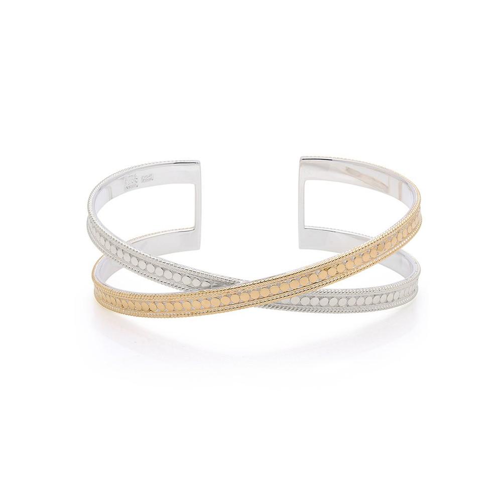 Single Cross Cuff - Gold & Silver