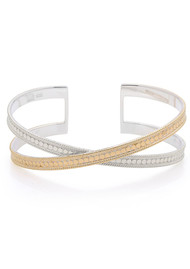 ANNA BECK Single Cross Cuff - Gold & Silver