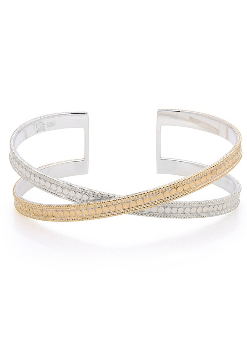 Single Cross Cuff - Gold & Silver main image