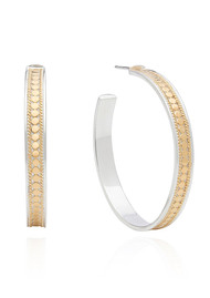 ANNA BECK Large Hoop Post Earrings - Gold