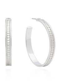 ANNA BECK Large Post Hoop Earrings - Silver