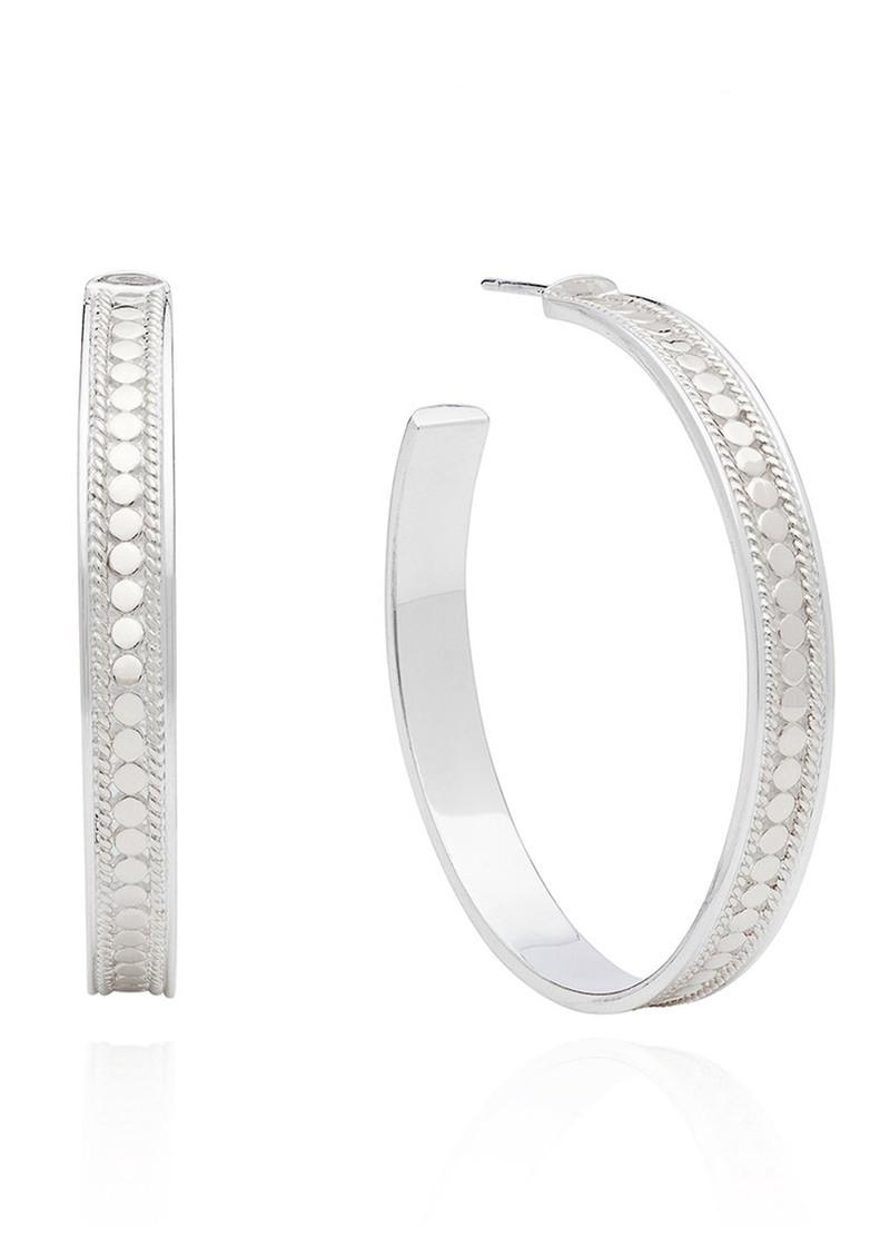 ANNA BECK Large Post Hoop Earrings - Silver main image