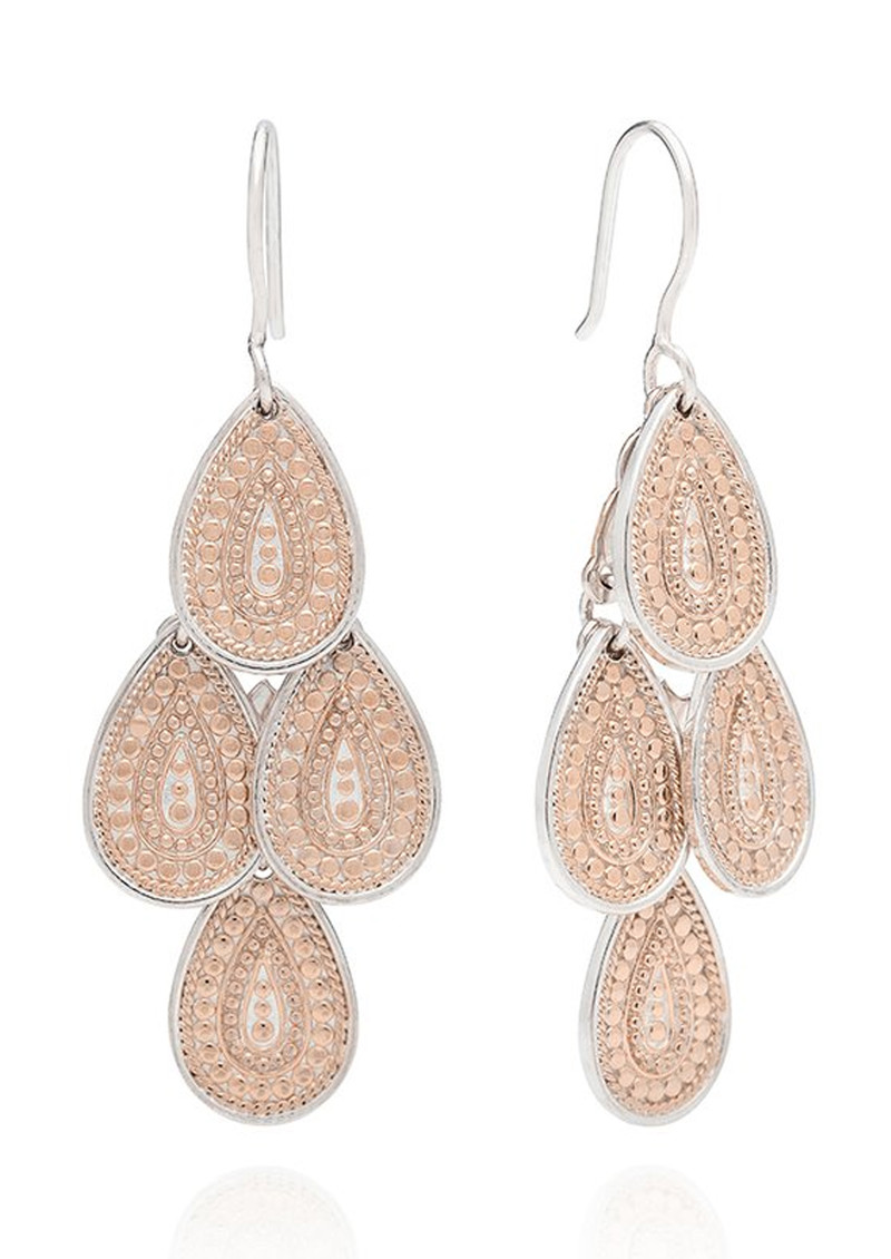 ANNA BECK XL Chandelier Earrings - Rose Gold main image