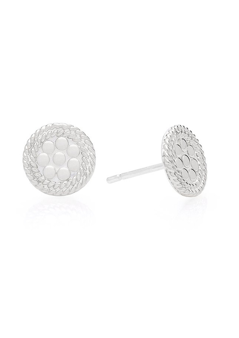 ANNA BECK Tiny Circle Stud Earrings - Silver main image