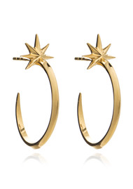 RACHEL JACKSON Rockstar Shooting Star Hoops - Gold