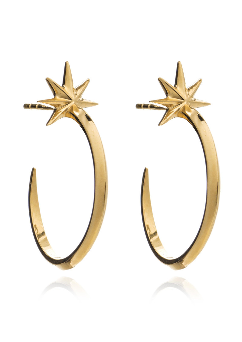 RACHEL JACKSON Rockstar Shooting Star Hoops - Gold main image