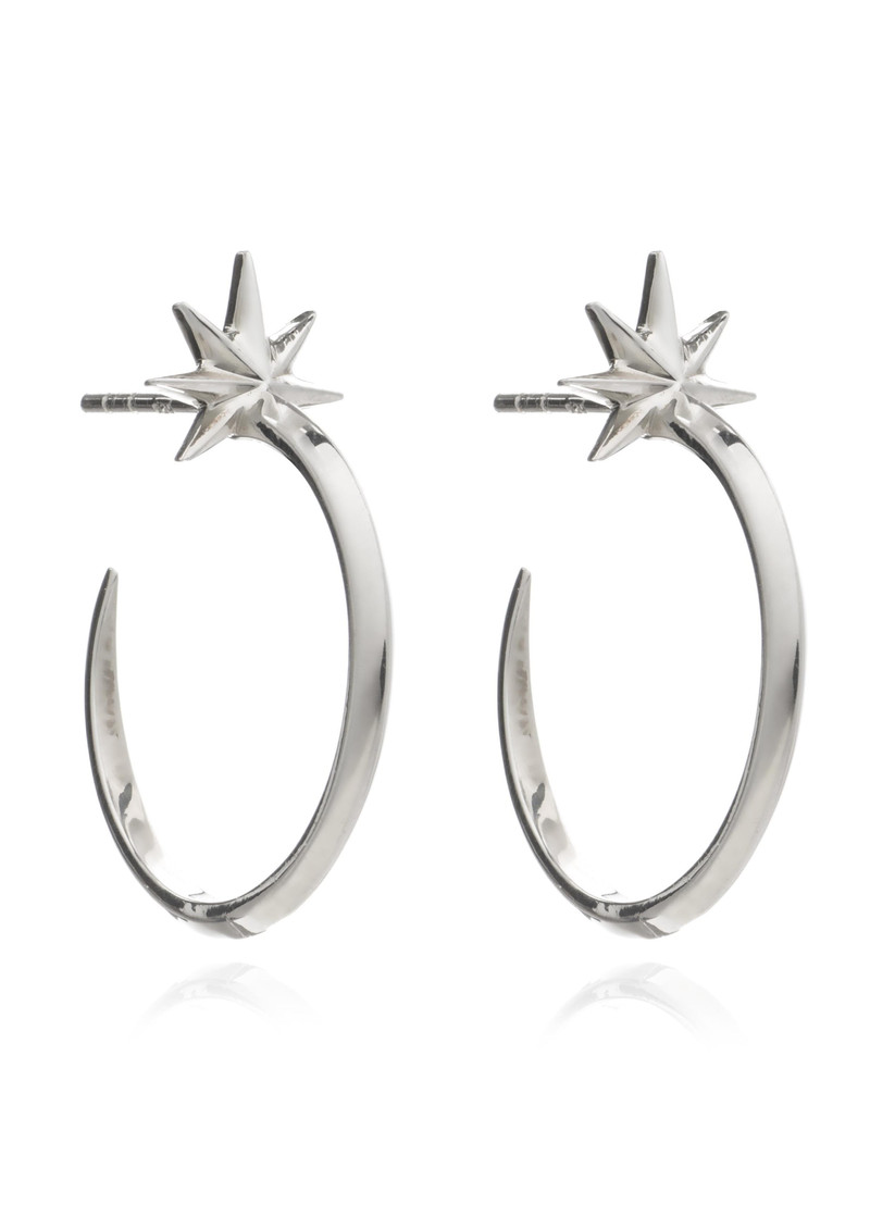 Rockstar Shooting Star Hoops - Silver main image