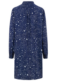 Mercy Delta Wilton Silk Shirt Dress - Galaxy True Blue