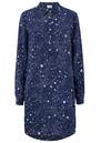 Mercy Delta Wilton Silk Shirt Dress - Galaxy True Blue