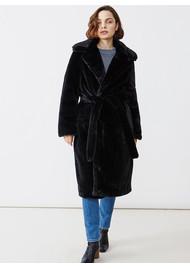 Twist and Tango Alma Faux Fur Coat - Black