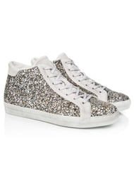AIR & GRACE Alto Trainers - Silver Glitter