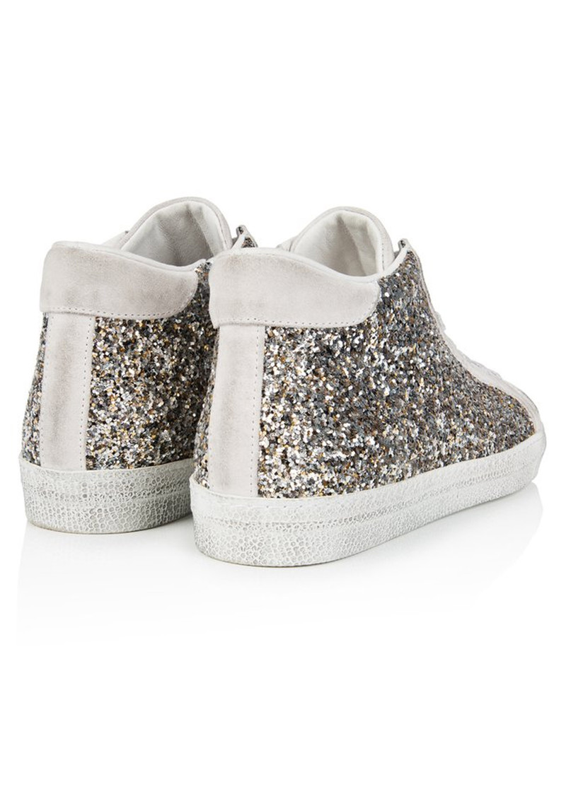 AIR & GRACE Alto Trainers - Silver Glitter main image