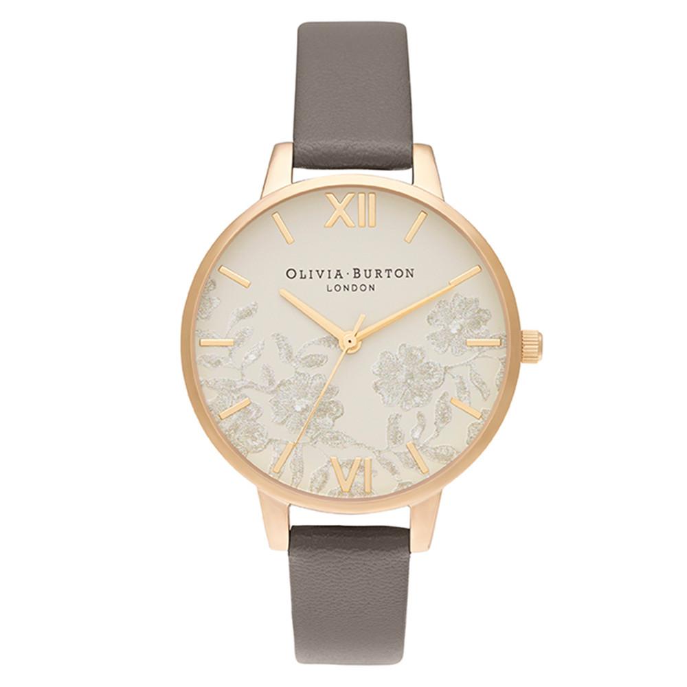 Lace Detail Midi Dial Watch - London Grey & Gold