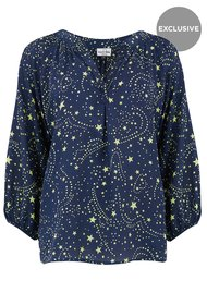 Mercy Delta Exclusive Clevedon Silk Top - Galaxy Neon Lime