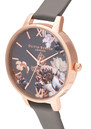 Olivia Burton Marble Florals Watch - London Grey & Rose Gold