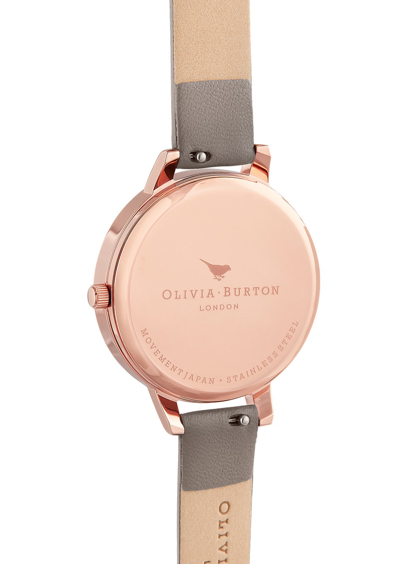 Olivia Burton Marble Florals Watch - London Grey & Rose Gold main image