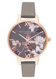 Olivia Burton Marble Florals Watch - London Grey & Rose Gold